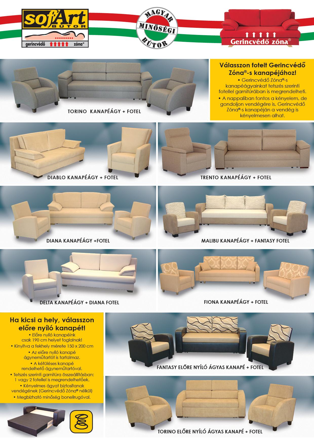 Garnitúrák és fotelek